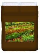 Green Forest River Duvet Cover