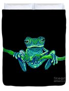 Green Ghost Frog Duvet Cover
