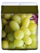 Green Grapes And Purple Mum Duvet Cover