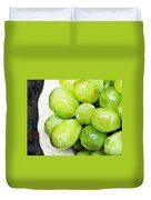 Green Grapes On A Plate Duvet Cover