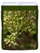 Green Helicid Bee 6 Duvet Cover