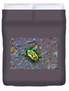 Green Junebug Duvet Cover