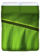 Green Leaf, Close-up Duvet Cover