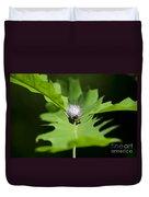 Green Oak Leaf And Flower Duvet Cover