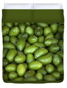 Green Olives Duvet Cover by Joana Kruse
