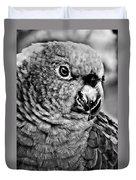 Green Parrot - Bw Duvet Cover