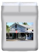 Green Parrot Bar In Key West Duvet Cover