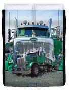 Green Peterbilt Dbl. Exposure Duvet Cover
