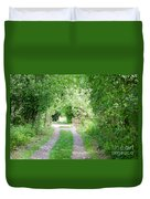 Green Road Duvet Cover