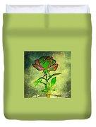Green Rose Duvet Cover