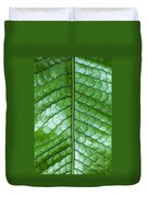 Green Scaly Leaf Pattern Duvet Cover