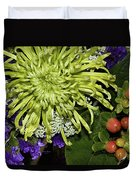 Green Spider Mum Duvet Cover