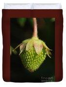Green Strawberry Duvet Cover