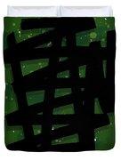 Green Stroke Duvet Cover