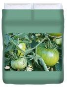Green Tomato On The Vine Duvet Cover