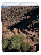 Green Tuft In Sandstone Duvet Cover