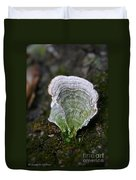 Green Turkey Tails Duvet Cover