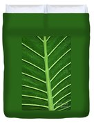 Green Veiny Leaf 1 Duvet Cover