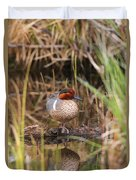 Greenwing Teal Duvet Cover