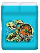 Gretchen Fish A Citrus Twist Duvet Cover