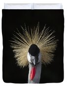 Grey Crowned Crane Balearica Regulorum Duvet Cover