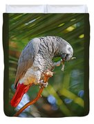 Grey Parrot Duvet Cover