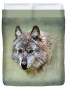 Grey Wolf Portrait Duvet Cover