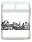Griffith And Los Angeles Etched Duvet Cover