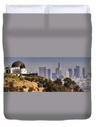 Griffith And Los Angeles Duvet Cover