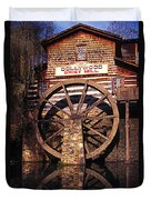 Grist Mill In The Smokies Duvet Cover