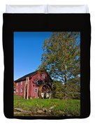 Grist Mill Painted Duvet Cover