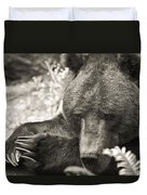 Grizzly At Rest Duvet Cover