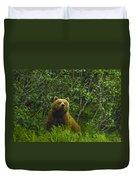 Grizzly Bear Alaska Duvet Cover
