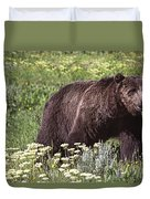 Grizzly Bear In Yellowstone Neg.28 Duvet Cover