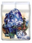 Grizzly Blue Duvet Cover