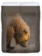 Grizzly Hanging Head Duvet Cover