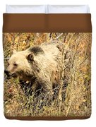 Grizzly In The Brush Duvet Cover