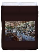 Grocery Store Of Yesteryear - Virginia City Montana Ghost Town Duvet Cover by Daniel Hagerman