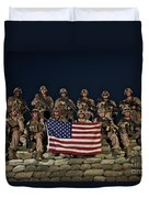 Group Photo Of U.s. Marines Duvet Cover