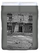 Growing Up...an Economics Tale Bw Duvet Cover