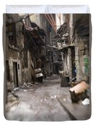 Grubby, Urban Alleyway In Chongqing Duvet Cover