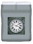 Grungy Clock Duvet Cover by Carlos Caetano