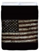 Grungy Wooden Textured Usa Flag2 Duvet Cover