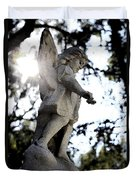 Guardian Angel With Light From Above Duvet Cover