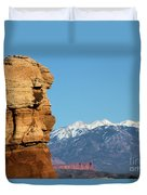 Guardian Of Arches Duvet Cover