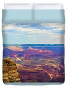 Guardians Of The Canyon Duvet Cover