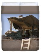 Guards From The United Arab Emirates Duvet Cover