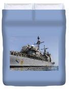 Guided Missile Cruiser Uss Bunker Hill Duvet Cover