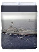 Guided Missile Destroyers Uss Dewey Duvet Cover