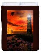 Guiding Light - Lighthouse Art Duvet Cover